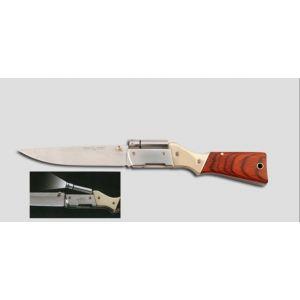 """couteau de poche forme """"carabine""""avec LED blanche orientable"""