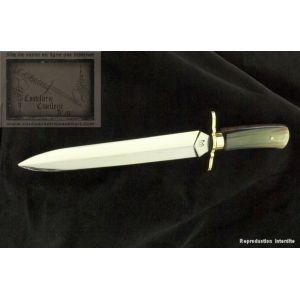dague de chasse,dague de luxe 50cm avec manche en corne poli