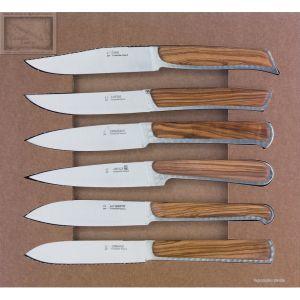 coffret couteau fontenille pataud,serie France, manche en olivie