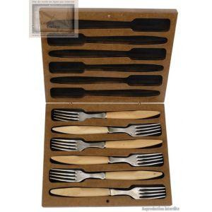 couteau le perigord, Coffret 6 fourchettes en buis