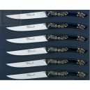 coffret couteaux, Arthaud Chosson,le Thiers loupe,manche noir/or