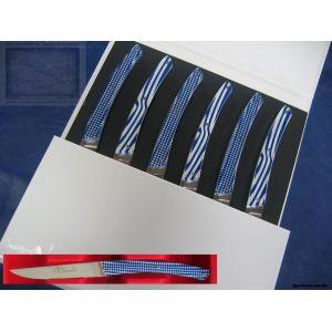 coffret couteaux, Arthaud Chosson,le Thiers loupe,manche bleu