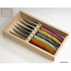 couteau Jean Dubost, coffret 6 couteaux,le Thiers acrylique