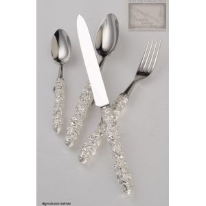 couverts de table Saint Joanis,ensemble Rachida,4 pieces,argente