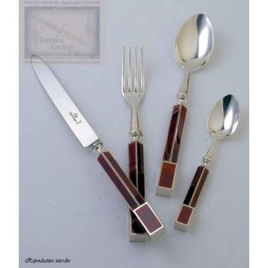 couverts de table Saint Joanis, ensemble N4, 75 pieces,argentees