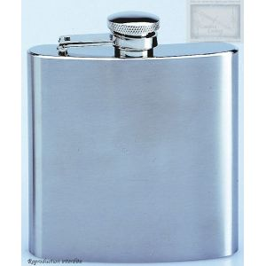 flasque inox brosse, 180ml, bouchon baionnette