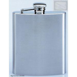 flasque inox brosse, 240ml, bouchon baionnette