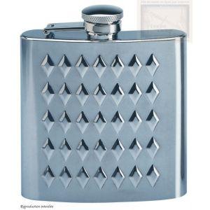 flasque inox decore, 180ml, bouchon baionnette