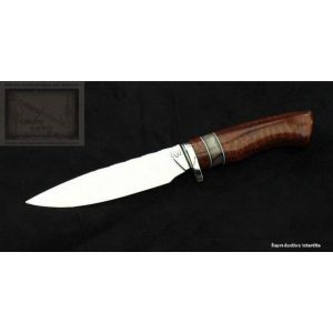 couteau de chasse, droit manche en bois d' amourette