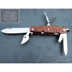Canif Mongin 10cm 6 piéces en bois d amourette