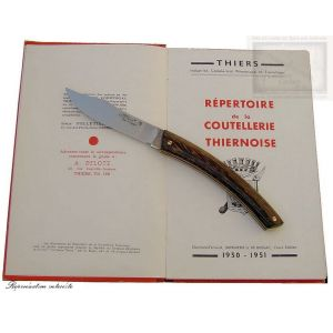 couteau le Thiers MC Cognet, manche en bois de palmier,lame inox