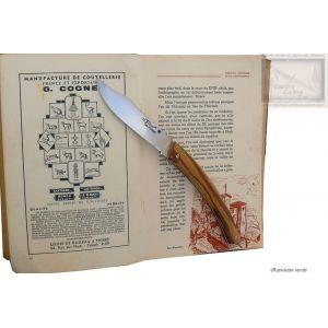 couteau le Thiers MC Cognet, manche en bois de serpent,lame inox