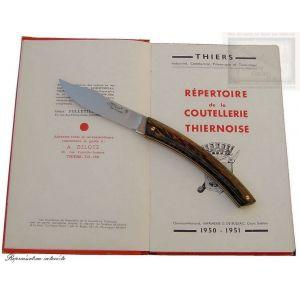 couteau le Thiers MC Cognet, manche en bois de palmier,lame carb