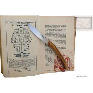 couteau le Thiers MC Cognet, manche en bois de serpent,lame carb