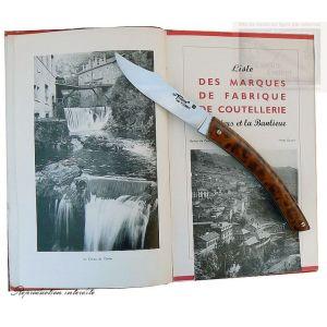 couteau le Thiers MC Cognet, manche en genevrier, lame carb