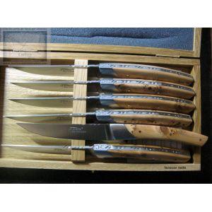 couteau de table le thiers chambriard, manche genevrier