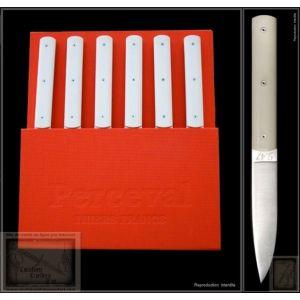 Coffret 6 couteaux Perceval 9.47 blanc