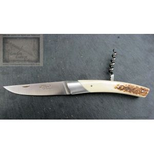 Couteau Chambriard le Thiers grand cru  bois de cerf  lame inox