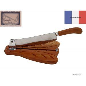 coupe pain, Roger Orfevre, forme laguiole en acajou