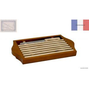 planche a pain, Roger Orfevre, grille amovible en bois teinte