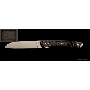 Couteau L10 Perceval en corne brune de bélier