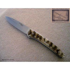 couteau le Chignore de David Ponson,manche en croute de belier