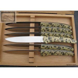 Coffret de 8 couteaux chignore de Coffret de 8 couteaux chignore de table David Ponsontable David Ponson