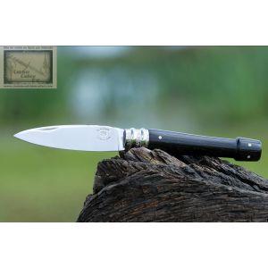 couteau le Morta nature,manche en Morta massif et ivoire de Mammouth,lame carbone XC75
