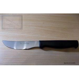 Couteau à pizza Nogent 3 étoiles, manche noir, lame crantée 11cm