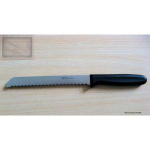 Couteau à pain nogent 3 etoiles,manche noir lame crantee 19cm