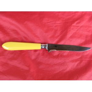 couteau steak de Nogent, manche couleur jaune